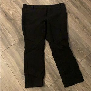 Black j crew business pants